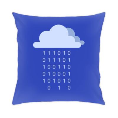 Подушка Цифровой дождь
