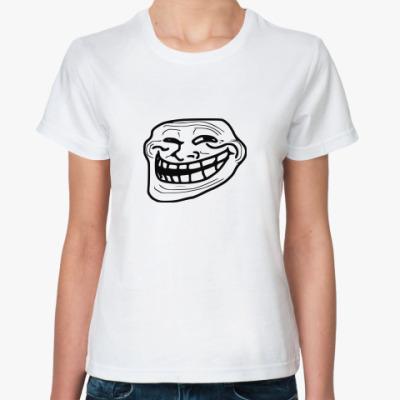 Классическая футболка 'троллфейс'