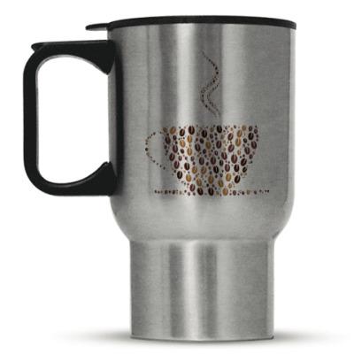 Кружка-термос Кофе из кофейных зерен
