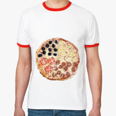 Футболка Ringer-T   Пицца