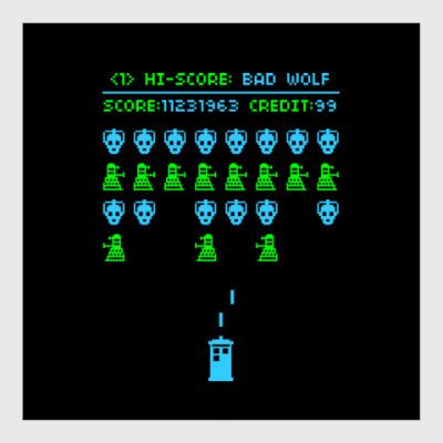 Постер Doctor Who Old School Game