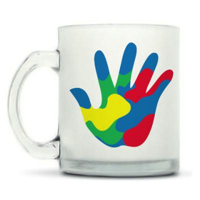 Кружка матовая Отпечаток Руки