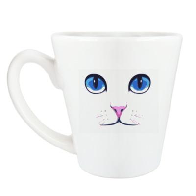 Чашка Латте Кошачья морда
