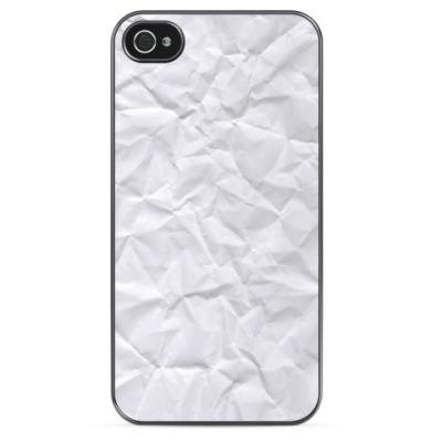 Чехол для iPhone Мятая бумага