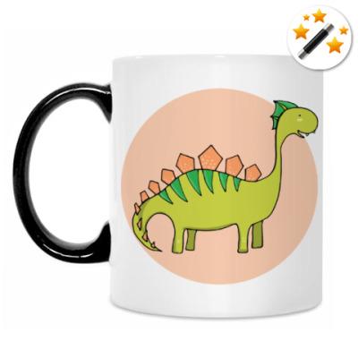 Кружка-хамелеон Динозаврик