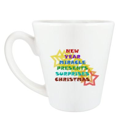 Чашка Латте Новый год