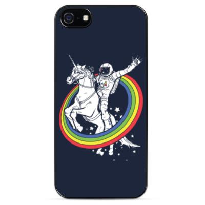 Чехол для iPhone Космонавт на единороге