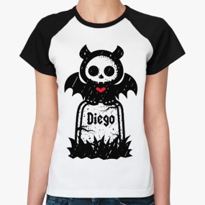 Женская футболка реглан Диего Надгробие