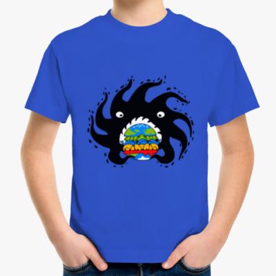 Детская футболка Black hole eating a globurger