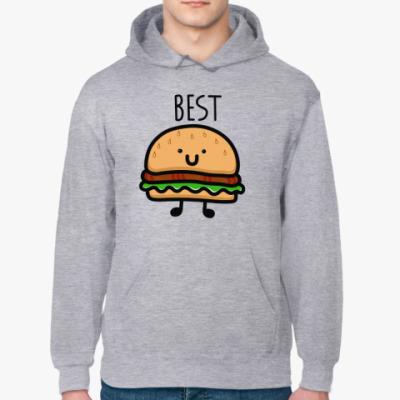 Толстовка худи Гамбургер лучший друг