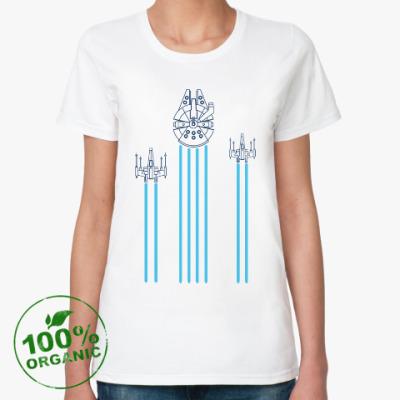 Женская футболка из органик-хлопка звёздные войны (Star wars)