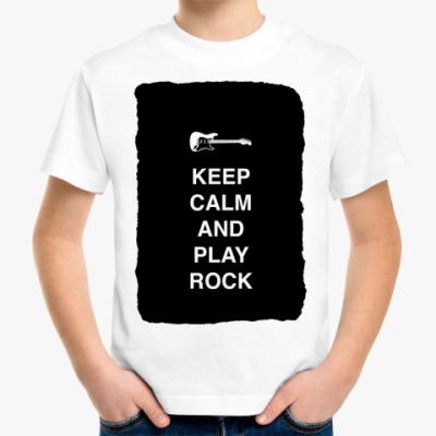 Детская футболка Keep calm and play rock