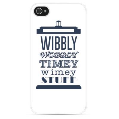 Чехол для iPhone Wibbly Wobbly Timey Wimey Stuf