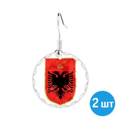 Серьги Герб Албании