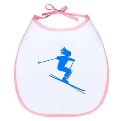 Слюнявчик Лыжница