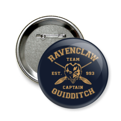 Значок 58мм Ravenclaw Quidditch Team