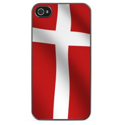 Чехол для iPhone Флаг Дании