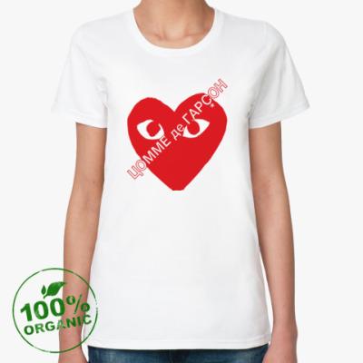 Женская футболка из органик-хлопка ЦОММЕ де ГАРÇОН