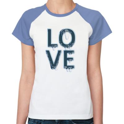 Женская футболка реглан Love Cry