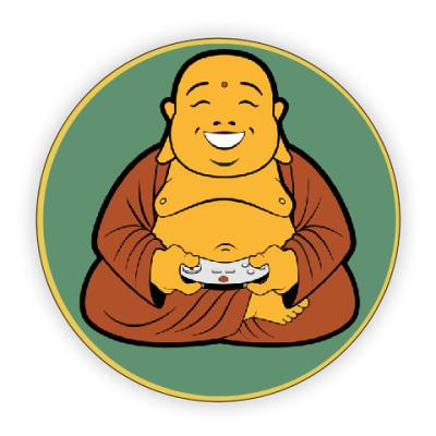 Костер (подставка под кружку) Прикольный Будда геймер