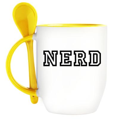 Кружка с ложкой Нерд (Nerd)