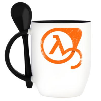 Кружка с ложкой Half-Life 3