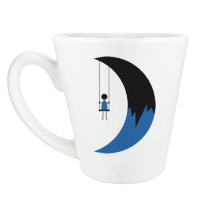 Чашка Латте Качели на Луне