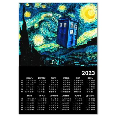 Календарь ТАРДИС Ван-Гога