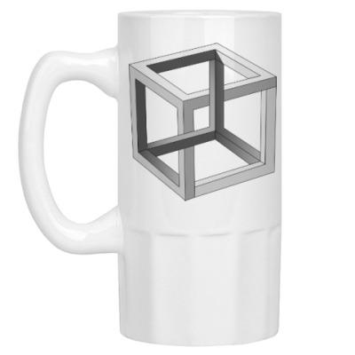 Пивная кружка Невозможный Куб 3D