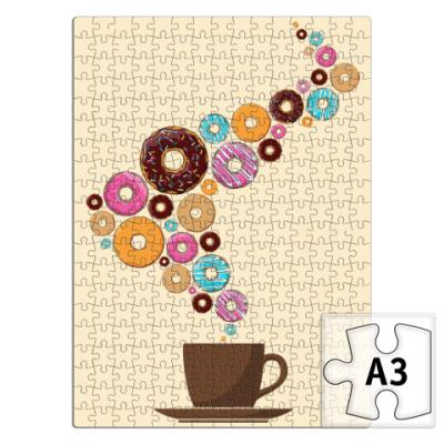 Пазл Кофе с пончиками