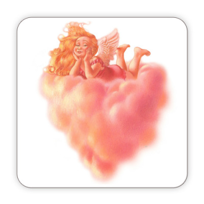 Костер (подставка под кружку) Ангел на облаке