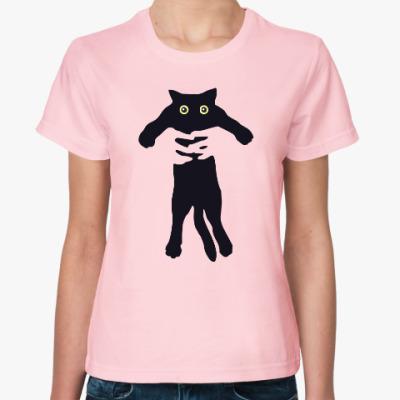 Женская футболка Little Cat in Hands