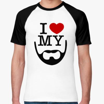 Футболка реглан I love my beard