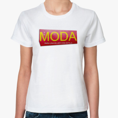 Классическая футболка футболка ж MODA