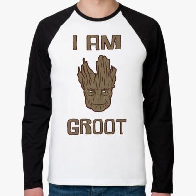 Футболка реглан с длинным рукавом I am Groot