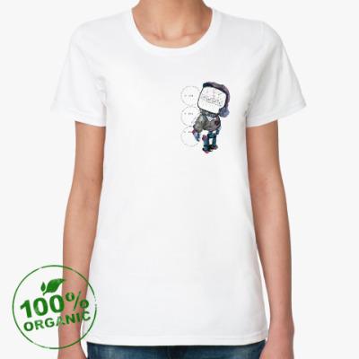 Женская футболка из органик-хлопка Робот