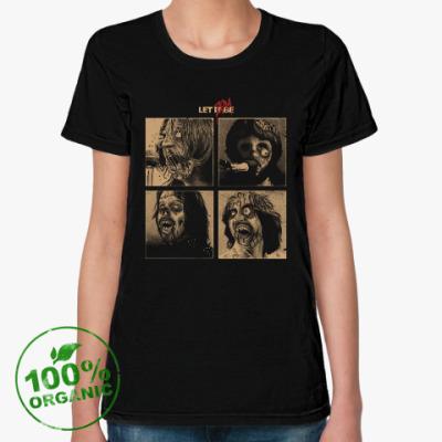 Женская футболка из органик-хлопка The Beatles Zombie фанарт