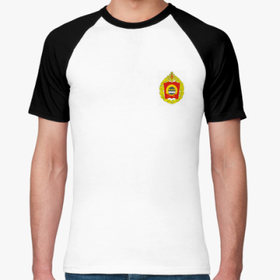 Футболка реглан   (бел/чёрн)