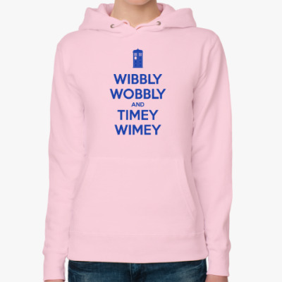 Женская толстовка худи WIBBLY WOBBLY and TIMEY WIMEY
