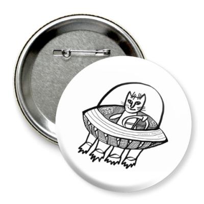 Значок 75мм Космический кот