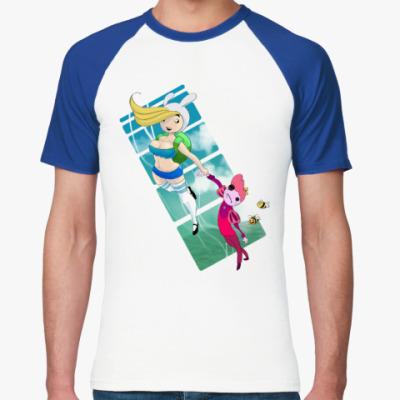Футболка реглан Adventure Time - Время летать