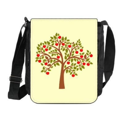 Сумка на плечо (мини-планшет) Яблоня