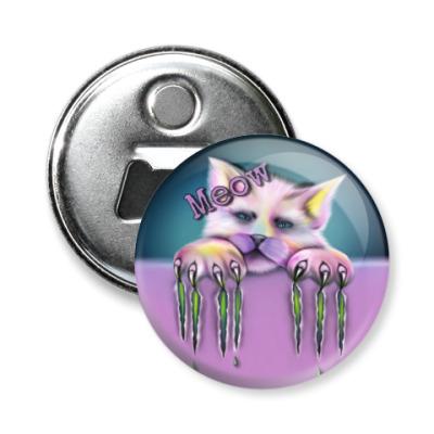 Магнит-открывашка Sad cat