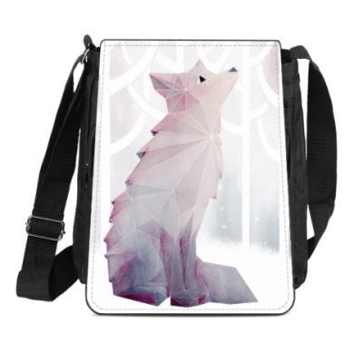 Сумка-планшет Зимний Лис в снегу Winter fox