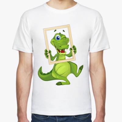 Футболка Draw and Guess с крокодилом