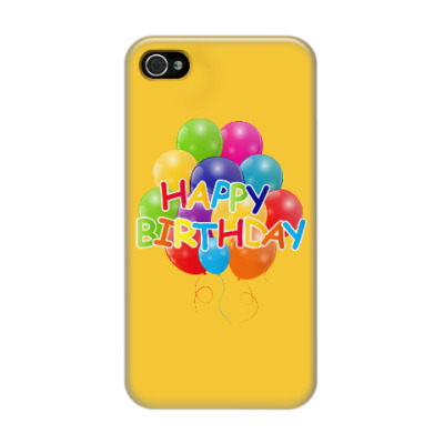 Чехол для iPhone 4/4s Happy Birthday