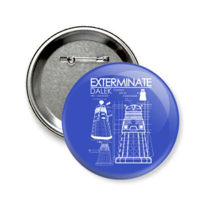 Значок 58мм Dalek plan