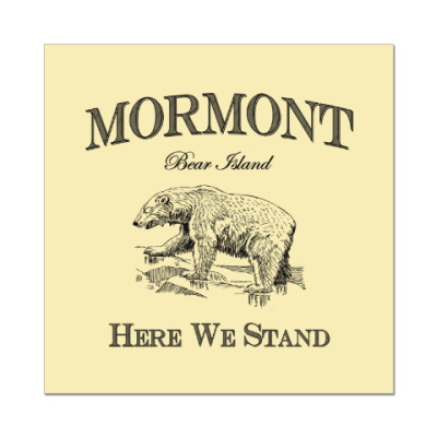 Наклейка (стикер) Mormont