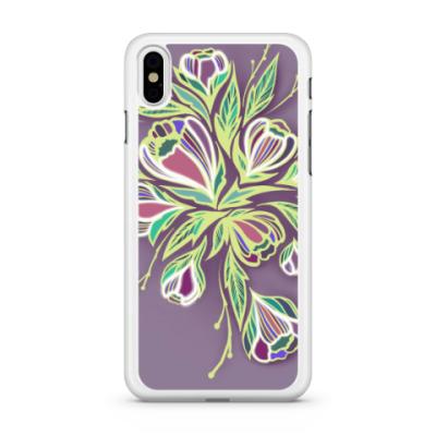Чехол для iPhone Glowing flowers
