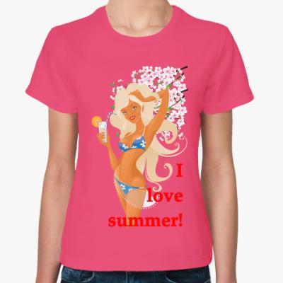 Женская футболка Я люблю...
